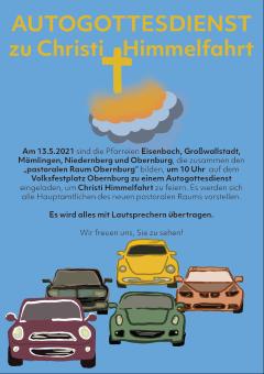 Autogottesdienst zu Christi Himmelfahrt