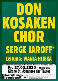 Konzert mit den DON KOSAKEN / abgesagt!